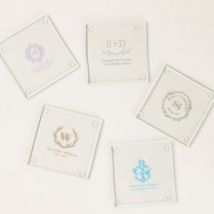 PCOA3008 Imprint Coasters Floral (2 pieces set) - as low as RM4.50/ Pc