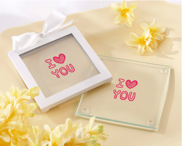 PCOA3015 Imprint Coasters Love Collection (2 pieces set) - as low as RM4.50/Pc