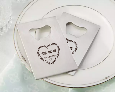 PBO3011 Personalized Floral Silver Credit Card Bottle Opener - As Low As RM2.20/Pc