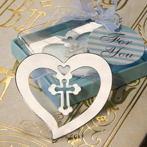 WBM2041 Blue Blessing Cross Bookmark Favors  - As low as RM1.80 / Pc