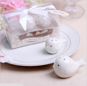 WMSB2005 Feathering the Nest Ceramic Birds Shakers (White & Blue)- As Low As RM3.40 / Box