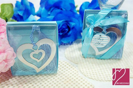 WBM2004  Silver Heart Love Bookmark - As Low As RM1.50/Pc