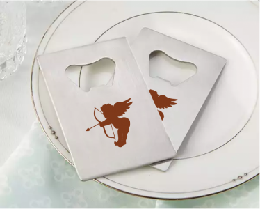 PBO3003 Personalized Cupid Silver Credit Card Bottle Opener - As Low As RM2.20/Pc