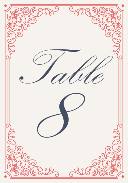 STC3008 Personalize Table Cards