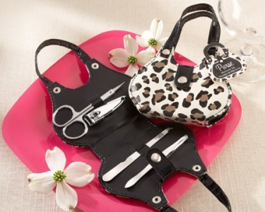 WMSO2006 Chic Cheetah Animal-Print Purse Four-Piece Manicure Set  - As low as RM6.30 / Pc