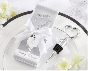 WWS2012 Simply Elegant Chrome Heart Bottle Stopper - As low as RM4.51/ Pc