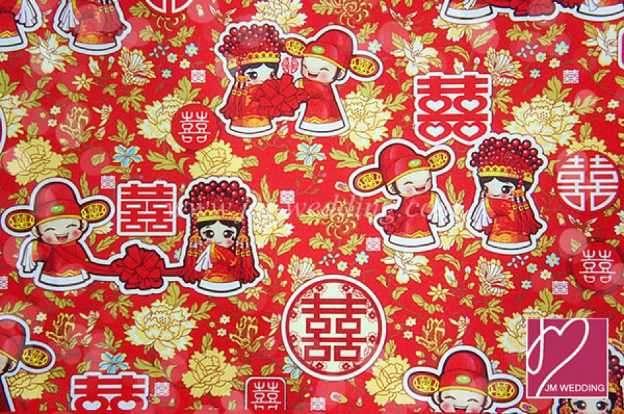 WWP1007 Red Wrapping Paper  礼物纸