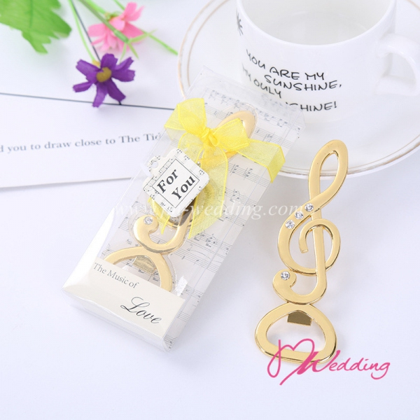 "WBO2056 ""The Music Of Love "" Chrome Music Note Bottle Opener - As Low As RM4.20 / Pc"