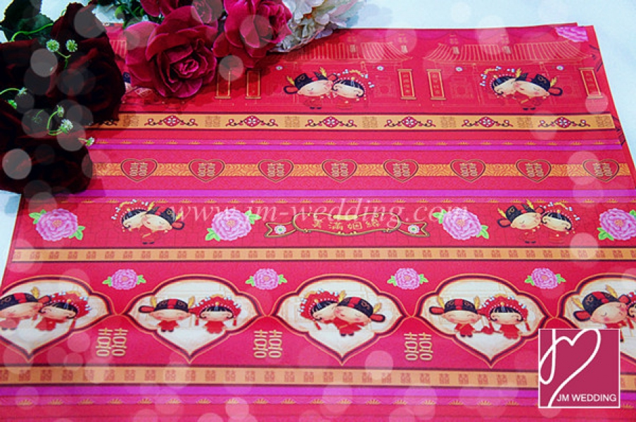WWP1006 Red Wrapping Paper  礼物纸