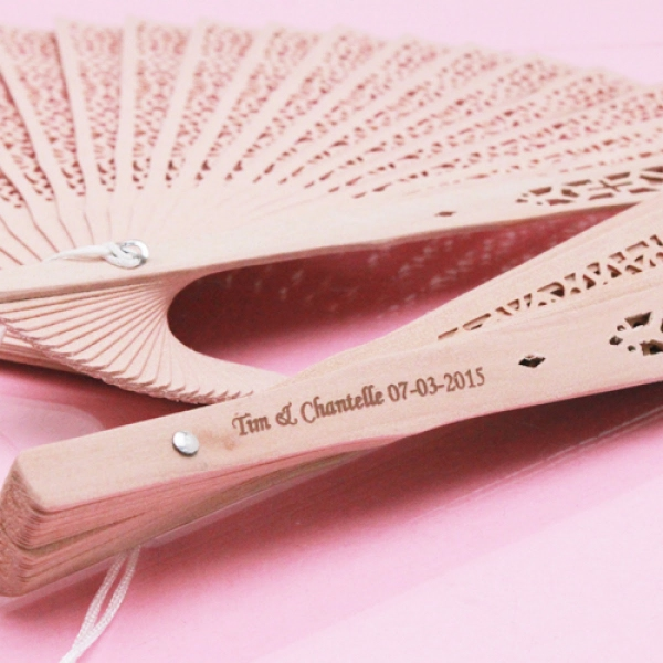 WFAN1005 Personalize Sandalwood Fans (Price Inclusive Imprint Services)