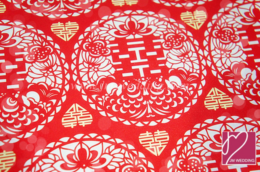 WWP1008 Red Wrapping Paper  礼物纸
