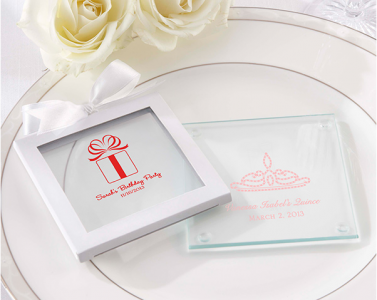PCOA3004  Imprint Coasters  Birthday Collection (2 pieces set) - As Low As RM4.50/ Pc