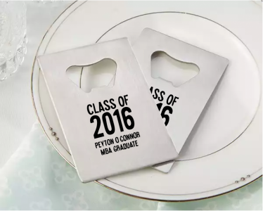 PBO3006 Personalized Graduation Silver Credit Card Bottle Opener - As Low As RM2.20/Pc