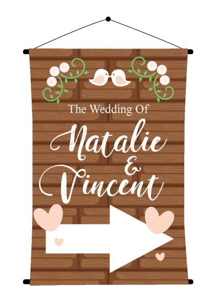 SBG3015 Personalize Bride and Groom Signs / Sign Arrow