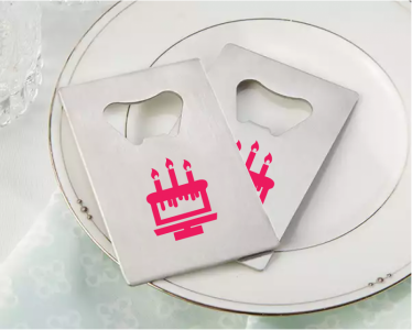 PBO3005 Personalized Birthday Silver Credit Card Bottle Opener - As Low As RM2.20/Pc