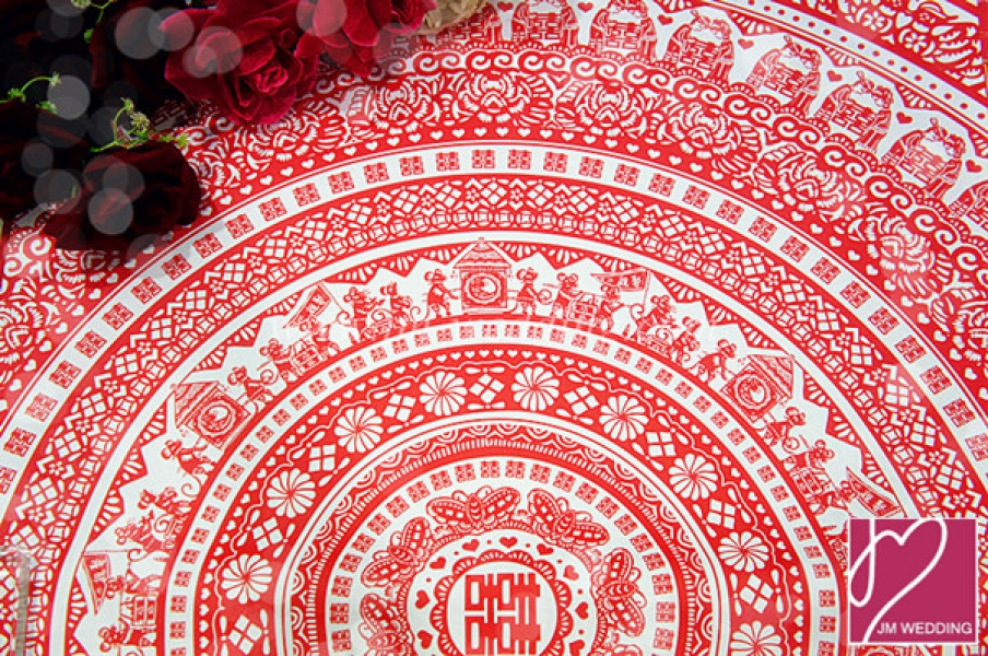 WWP1009 Red Wrapping Paper  礼物纸