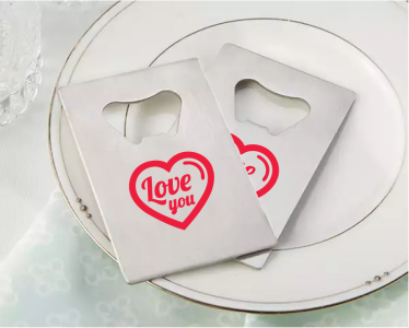 PBO3007 Personalized Love Silver Credit Card Bottle Opener - As Low As RM2.20/Pc