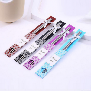WCS2001 Stainless Steel Dining Chopsticks Favors - As Low As RM 1.60/Pc