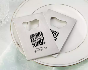 PBO3010 Personalized Bridal Shower Silver Credit Card Bottle Opener - As Low As RM2.20/Pc