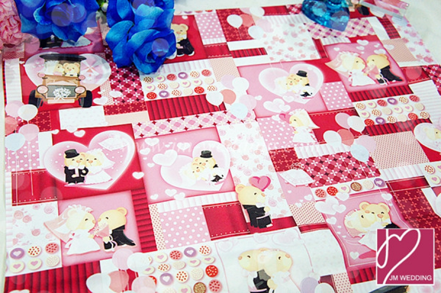 WWP1004-1 Red Wrapping Paper  礼物纸