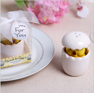 "WMSB2023 About to Hatch"" Ceramic Baby Chick Salt & Pepper Shakers - As Low As RM4.80 / Box"