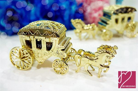 WPLB2001 Golden Horse Carriage Car PVC Favor Box - As low as RM3.50/Pc