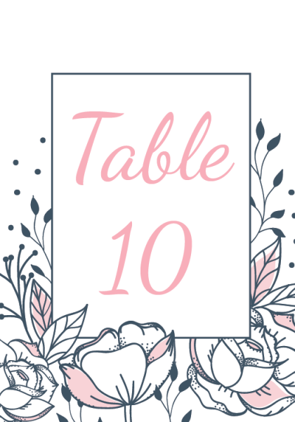 STC3010 Personalize Table Cards