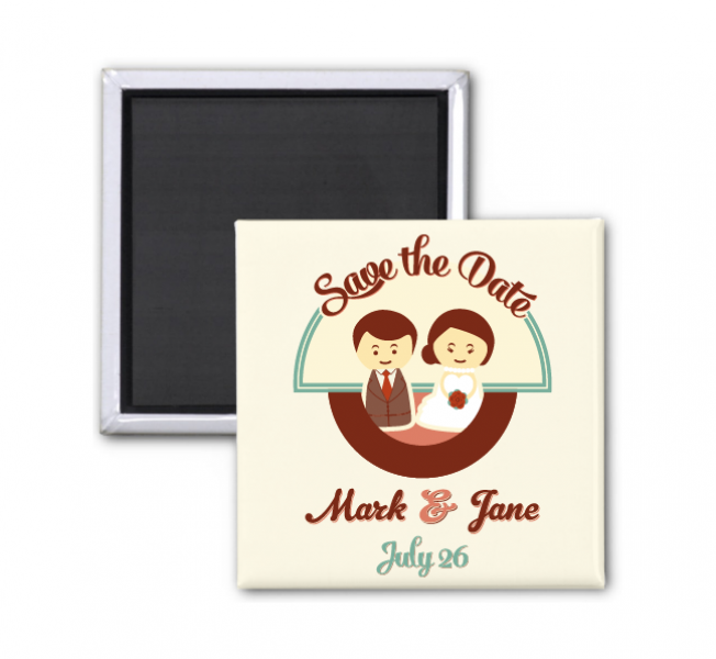 SFRM1001 Customize Fridge Magnet (Square/Heart/Round/Oval)