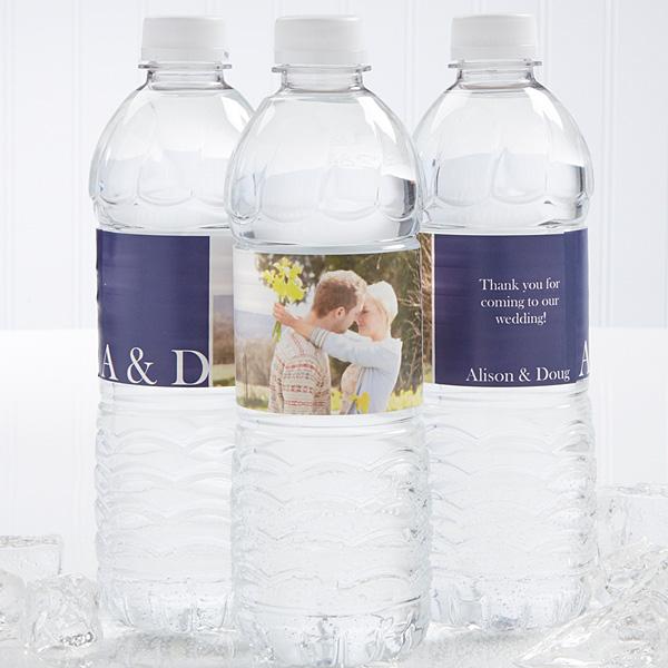 Sbl Wedding Photo Personalized Water Bottle Label  Water Bottle