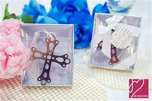 WBM2009 Blessing Silver Cross Bookmark Favors  - As low as RM1.80 / Pc