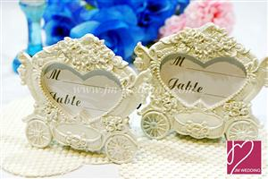 WPCH2002 Cinderella Pumpkin Carriage Place Card Holder - As low as RM3.80/pc