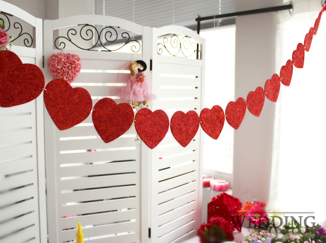 WPSD2002 Heart Shape Paper Art & String (15pcs in 1) ? ? ? ? ? - Decoration - PARTY / EVENT SUPPLIES