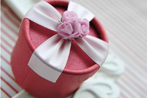 PHBR3003 Pink Rose Round Candy Box - As Low As RM2.20 /Pc