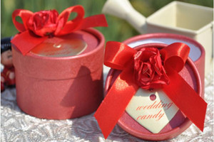 PHBR3009-2 Red Rose Round Candy Box - As Low As RM2.20 /Pc