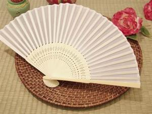 WSF2001 Silk Fans (18 Colors available) With Organza Pouch - As Low As RM2.90 /Pc
