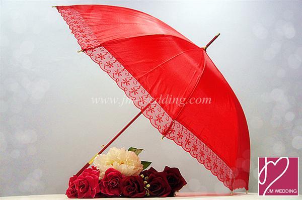 Wu1001 Lace Red Umbrella