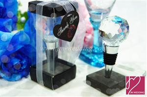 WWS2009 Crystal  Ball Bottle Stoppers - As Low As RM5.99 /Pc