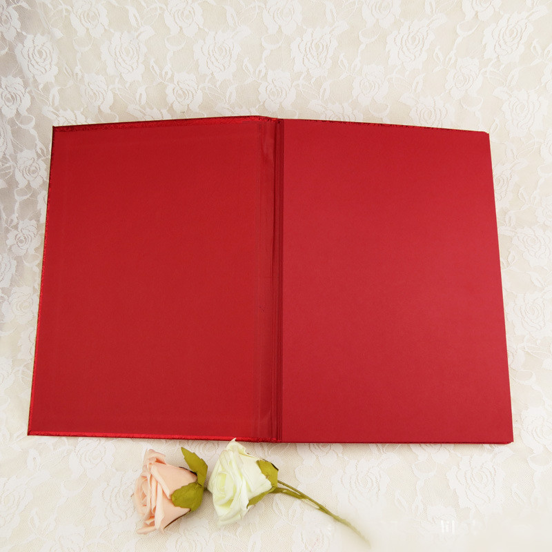 WGU1010 Elegant Red Guestbook Wedding Guestbooks WESTERN WEDDING SU